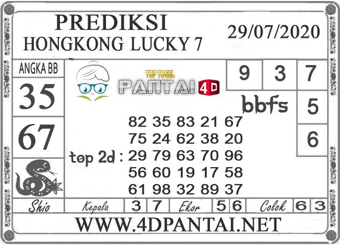 PREDIKSI TOGEL HONGKONG LUCKY 7 PANTAI4D 29 JULI 2020