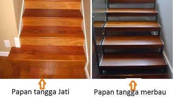 lantai kayu tangga