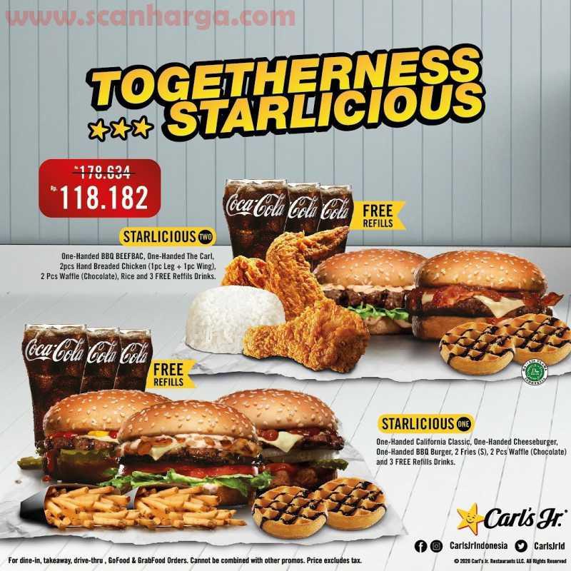 CARLS JR Promo Paket Togetherness Starlicious – Harga Mulai dari Rp 118.182,-