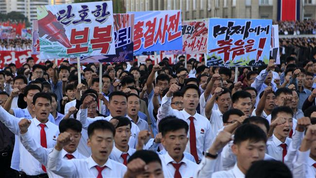 North Koreans attend anti-US rally in Pyongyang