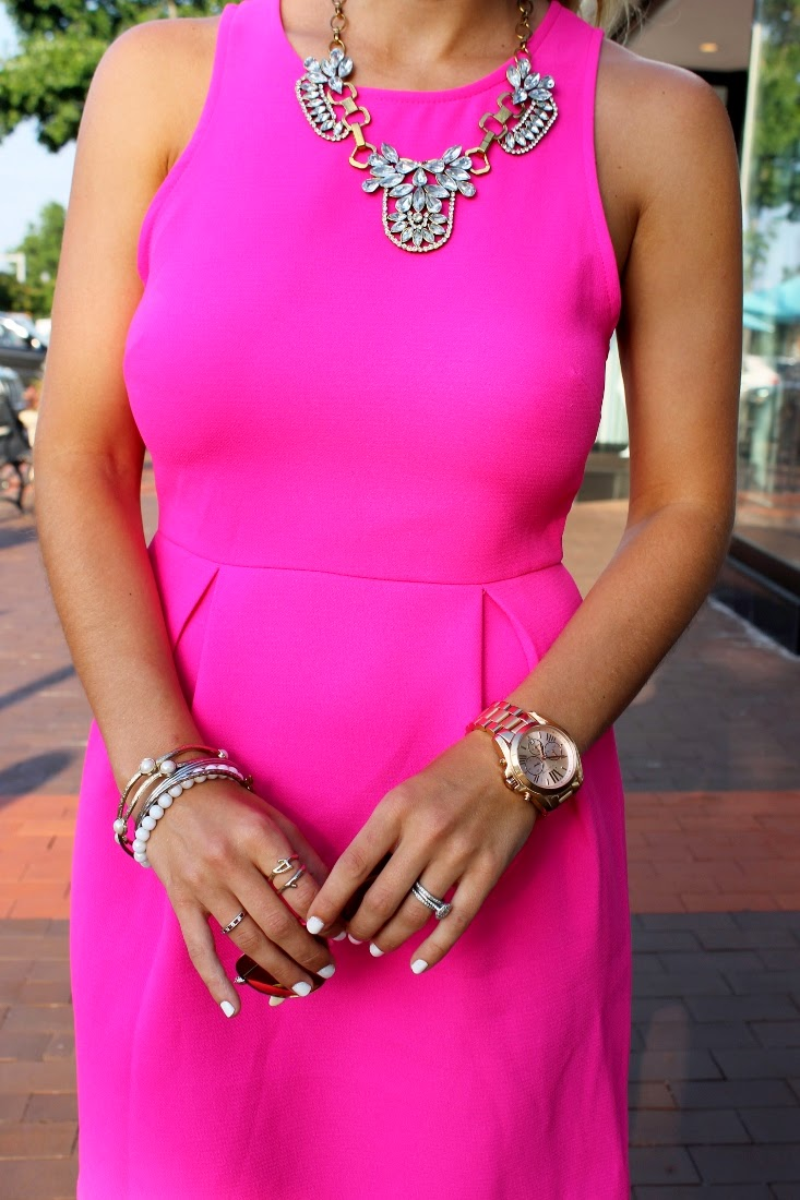 Bedazzles After Dark Outfit Post Hot Pink Monday