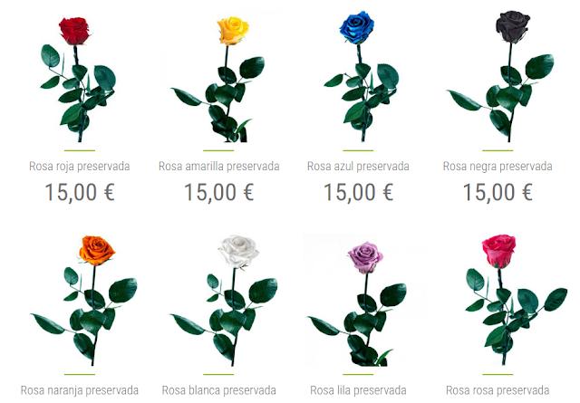rosas y flores preservadas para san valentin