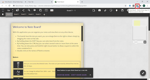 Note Board - Sticky Notes App : Interface