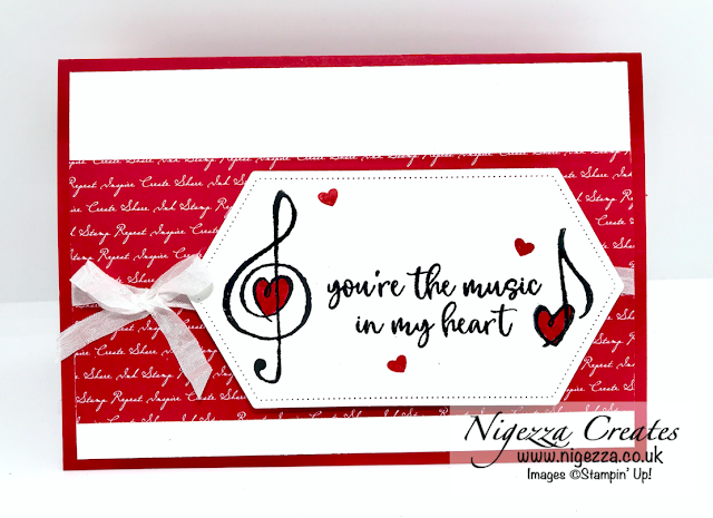 Nigezza Creates with Stampin' Up! for Stampin' Dreams February Blog Hop: Valentines & Music From The Heart