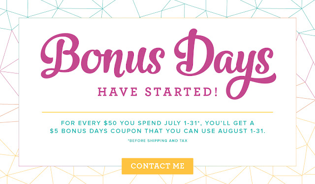 Bonus Days, Stampin Up, Coupon, Free, Card