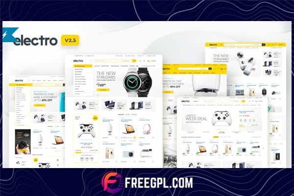 Electro - Electronics Store WooCommerce WordPress Theme Free Download