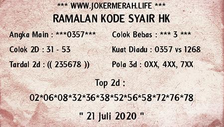 Joker Merah HK Selasa 21 Juli 2020
