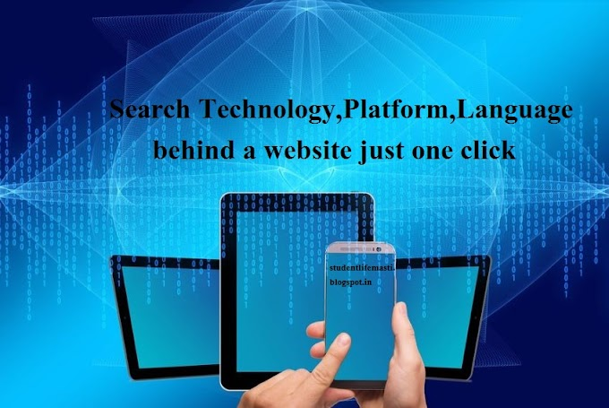 SearchTechnology,Platform,Language behind a website just one click