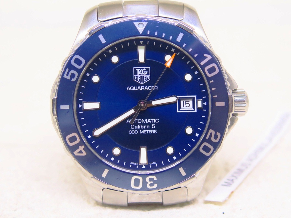 TAG HEUER AQUARACER 300m SUNBURST BLUE DIAL - AUTOMATIC CALIBRE 5