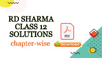 rd sharma solutions class 12   pdf download   chapter-wise