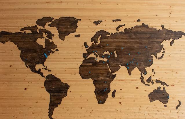 Printable World Map Wallpaper