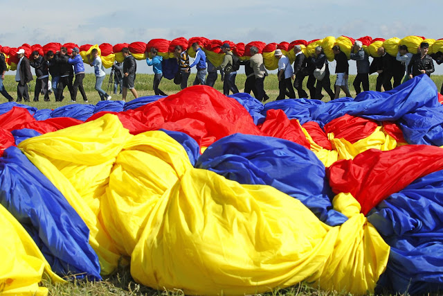 Romania's national flag Word Record