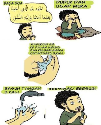 sunnah Rasulullah SAW ketika bangun pagi, adab bangun pagi