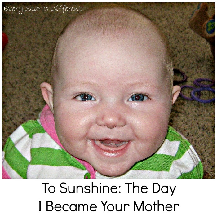 To Sunshine: The Day I Became YOur Mother