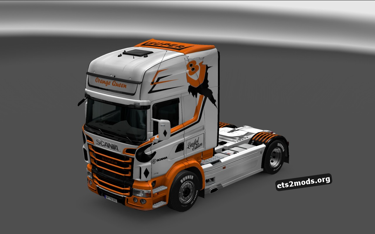 Orange Queen Skin for Scania RJL