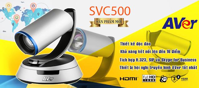 Giải pháp hội nghị truyền hình đa điểm AVer SVC500 thế hệ mới
