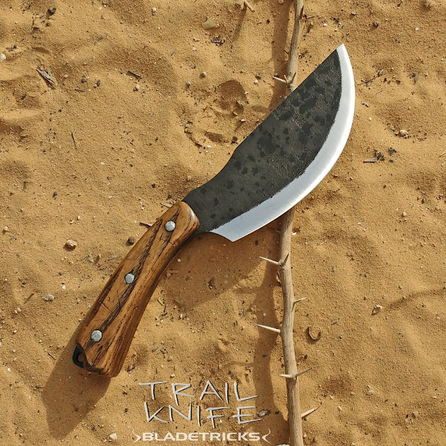 Bladetricks knife outdoor wilderness bushcraft chopping blade Trail Tracker Knife