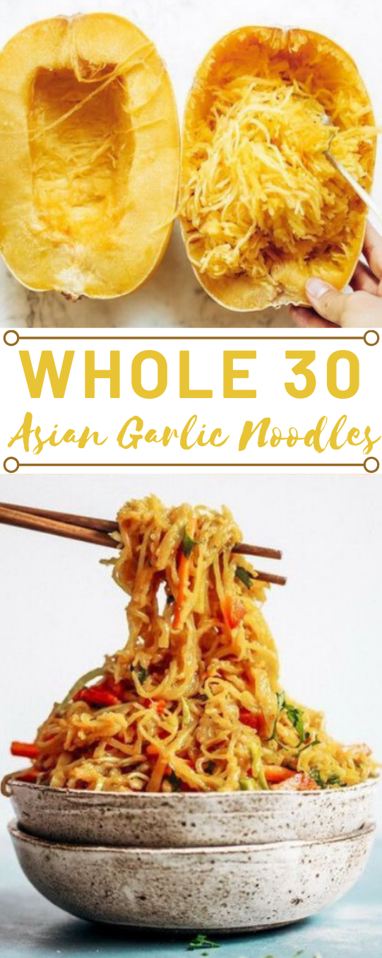 BEST ASIAN GARLIC PALEO WHOLE30 NOODLES  #paleo #whole30 #noodles #garlic #easy