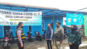Binmas Polsek Nagreg Polresta Bandung, Sosialisasi Pencegahan Covid-19 Kepada Warga