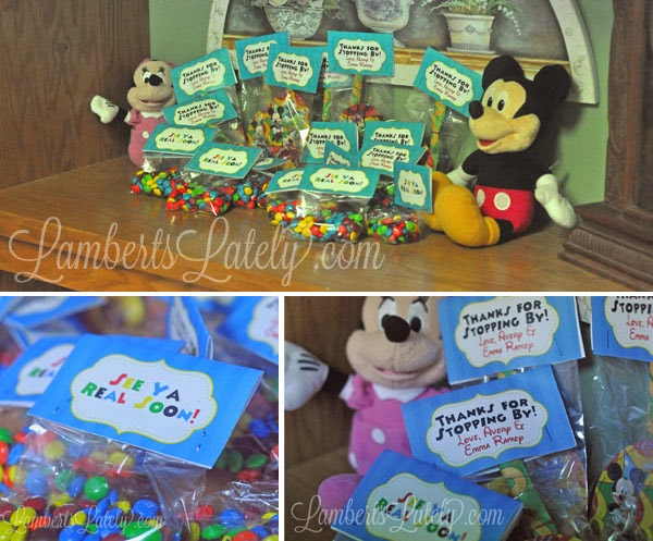 Mickey Mouse Clubhouse Party Favors