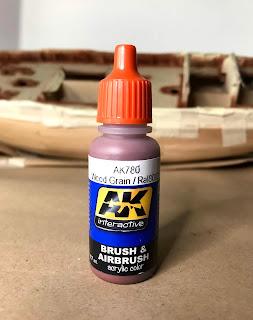 AK780 wood grain dell'ak interactive per pennello e aerografo