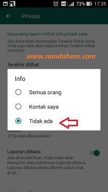 privasi menyembunyikan info whatsapp