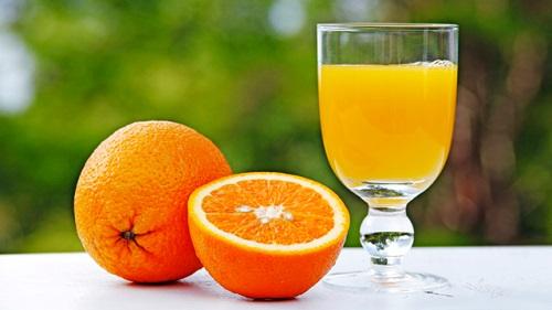 Method of action of orange juice