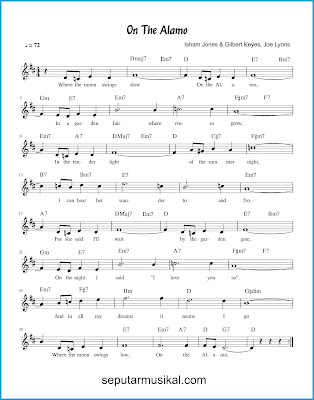 On The Alamo chords jazz standar