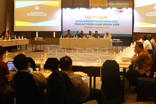 KPU Gelar Uji Publik Rancangan PKPU Penetapan Hasil Pemilu 2019