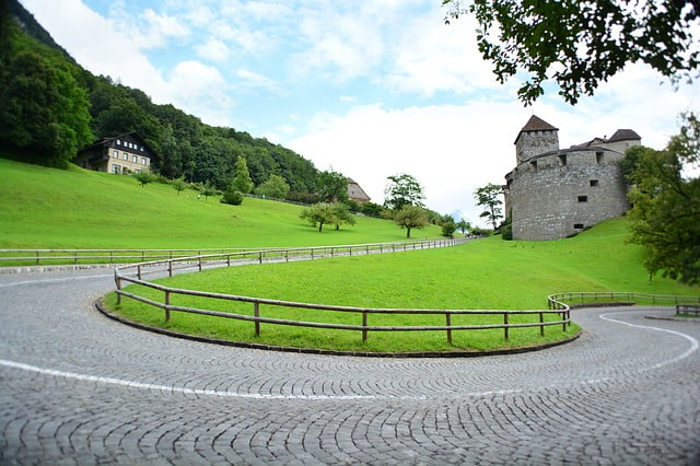 Vaduz Castle close up view in Liechtenstein