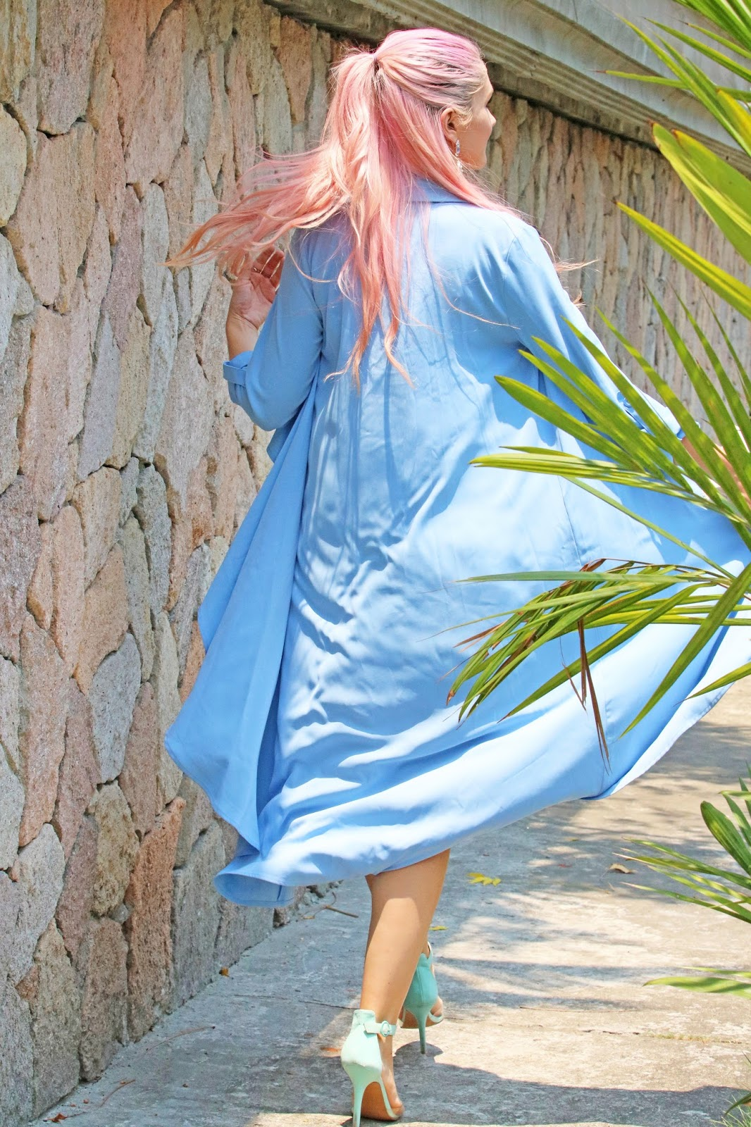 Light blue kimono from Forever21