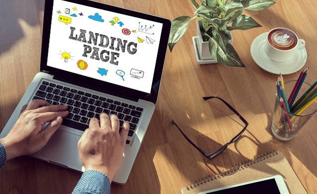 types of business websites landing page