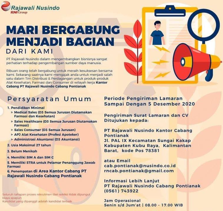 Lowongan Kerja Pt Rajawali Nusindo Lowongan Kerja Dan Rekrutmen Bulan Juni 2021