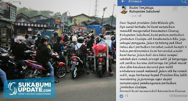 Kades Tenjolaya Kabupaten Sukabumi Kirim Surat Terbuka untuk Presiden Jokowi
