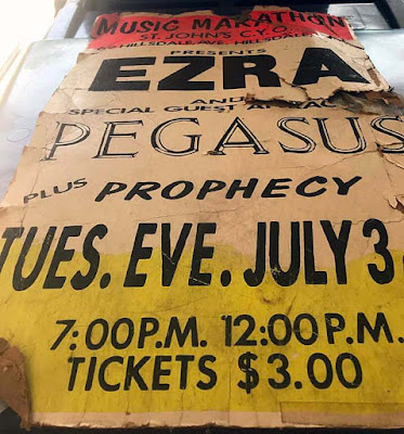 Ezra show poster at St. John's C.Y.O. in Hillsdale, New Jersey
