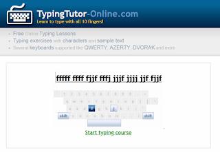 situs belajar mengetik 10 jari: typingtutor-online