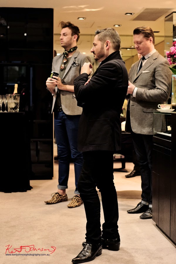 Stefano Canturi and Christopher (Mr) Harggarty at the launch of CANTURI ETERNAL in Sydney. Photographed by Kent Johnson for Street Fashion Sydney.