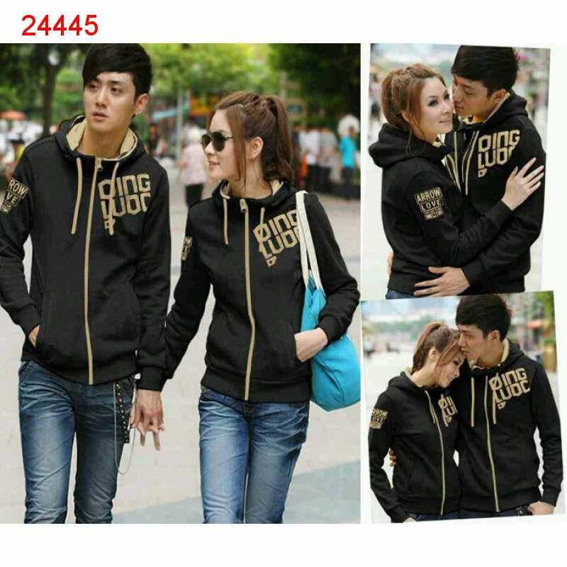 Jual Jacket Couple Jaket Qing Black Gold - 24445