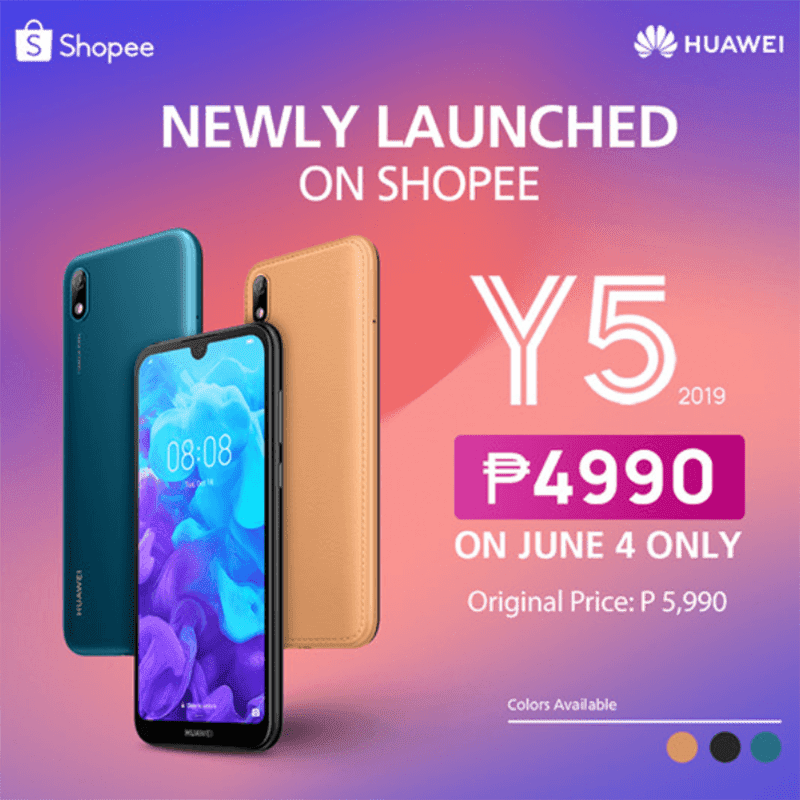 Huawei Y5 2019 is coming to Shopee Philippines!