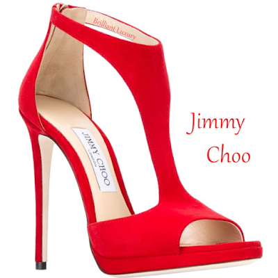 Hot red Jimmy Choo t-strap Lana sandal #brilliantluxury