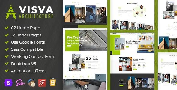 Best Architect & Interior Design Bootstrap 5 Template