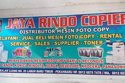 Lowongan Jaya Rindo Copier Pekanbaru September 2019