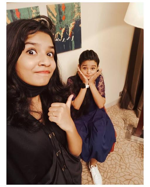 Top singer host Meenakshi and the singer Sreya's lip-syncing video goes viral.