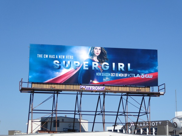 Supergirl season 2 The CW billboard