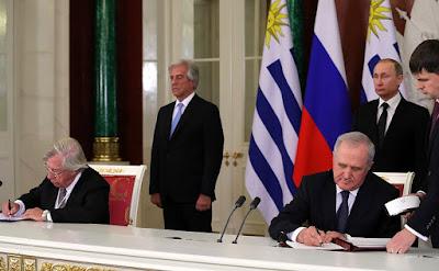 Russian-Uruguyan documents, diplomats.