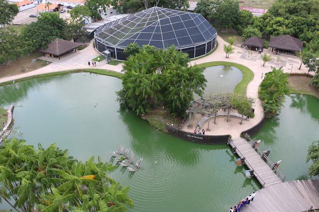 Vista do Farol de Belém: Parque Mangal das Garças
