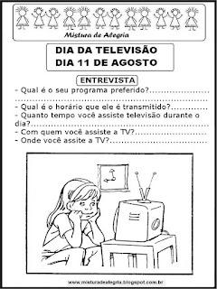 Atividade dia da televisão
