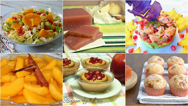 6 deliciosos platos con frutas de otoño. Julia y sus recetas