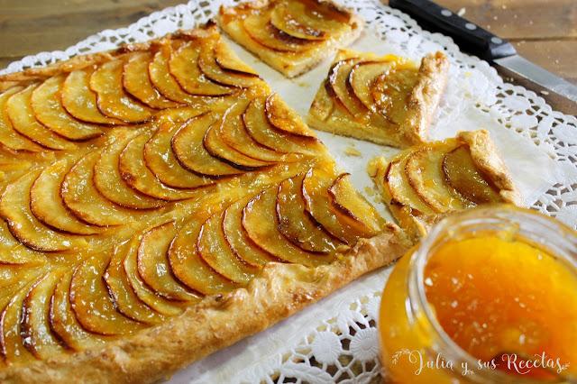Tarta fina de manzana. Julia y sus recetas