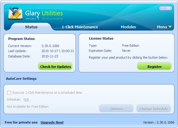 تحميل افضل برنامج لتنظيف وتسريع جهازز الكمبيوتر  Glary Utilities 5
